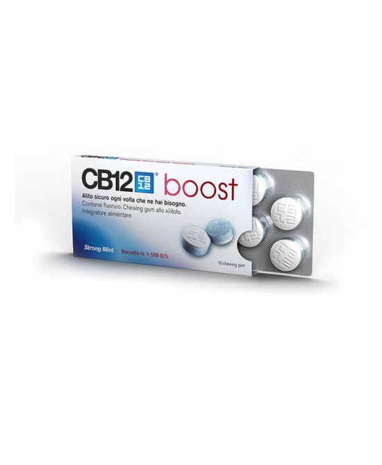 CB12 Boost Chewing-Gum Menta Forte Per Alito Senza Zucchero 10 Gomme - La tua farmacia online