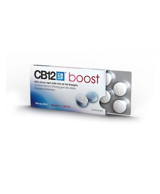 CB12 Boost Menta Forte Senza Zucchero 10 Chewing-Gum - Farmamille