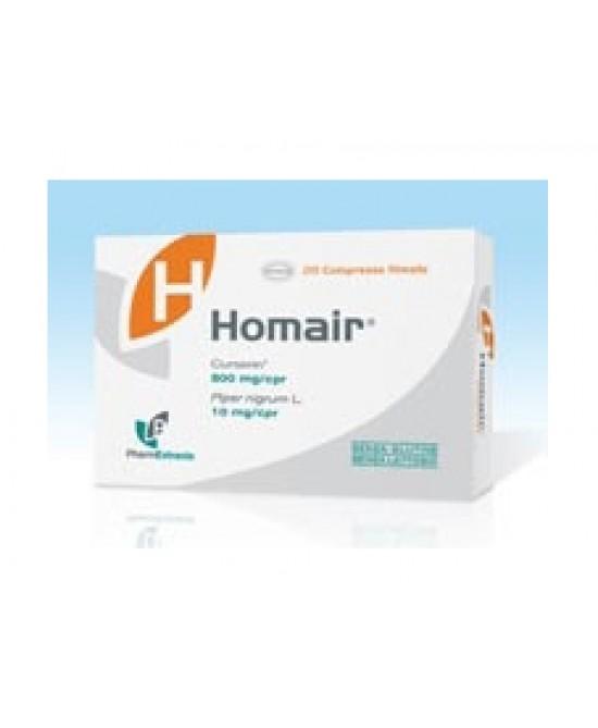 PharmExtracta Homair Integratore Alimentare 20 Compresse - Zfarmacia