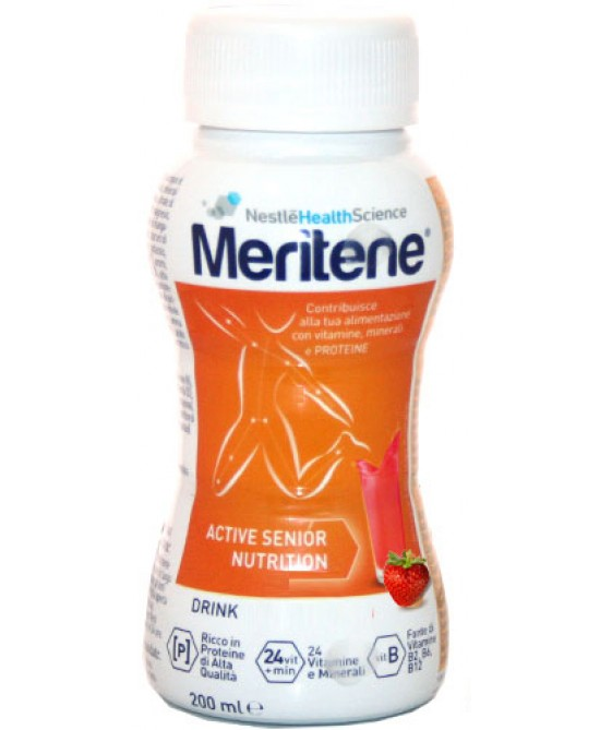 Nestlé Health Science Meritene Drink Integratore Alimentare Gusto Fragola 200ml - FARMAEMPORIO