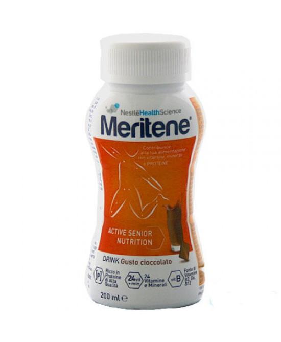 Nestlè Meritene Drink Integratore Alimentare Gusto Cioccolato 200ml - Farmacia 33