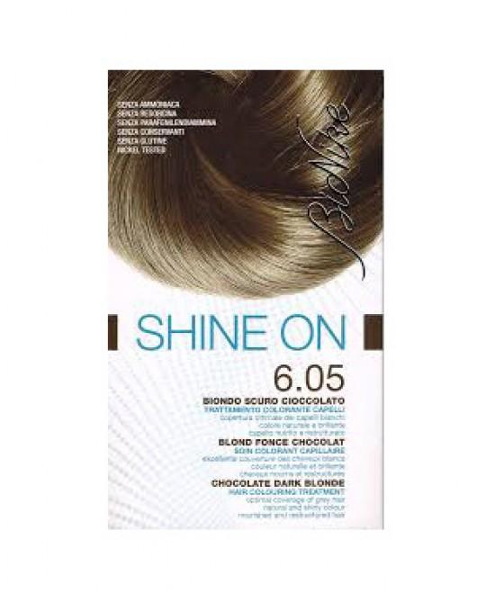 BioNike Shine On Trattamento Colorante Capelli Biondo Scuro Cioccolato 6.05 - Zfarmacia