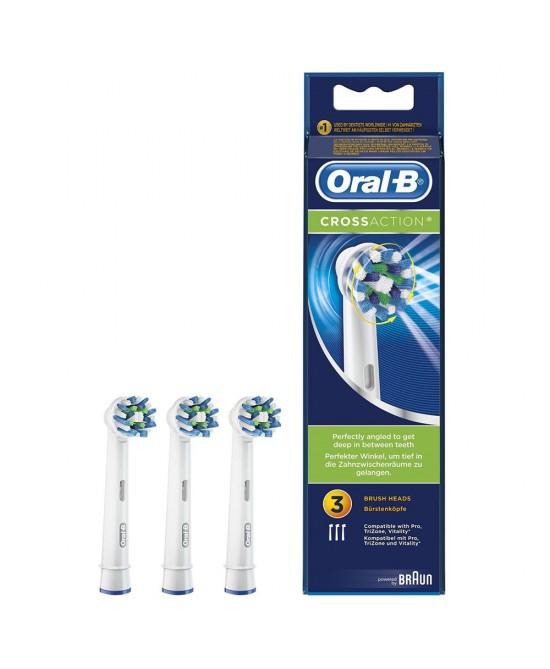 Oral-B CrossAction 3 Testine di Ricambio Per Spazzolino Elettrico - La tua farmacia online