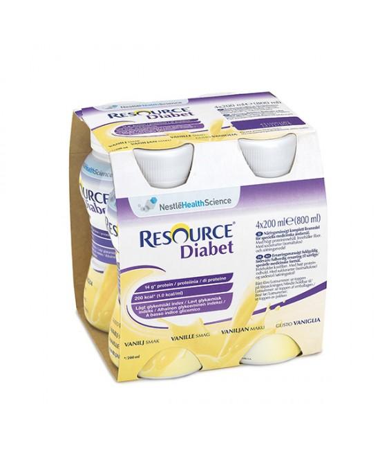 Nestlè Resource Diabet Gusto Vaniglia 4 Confezioni 200ml - FARMAEMPORIO