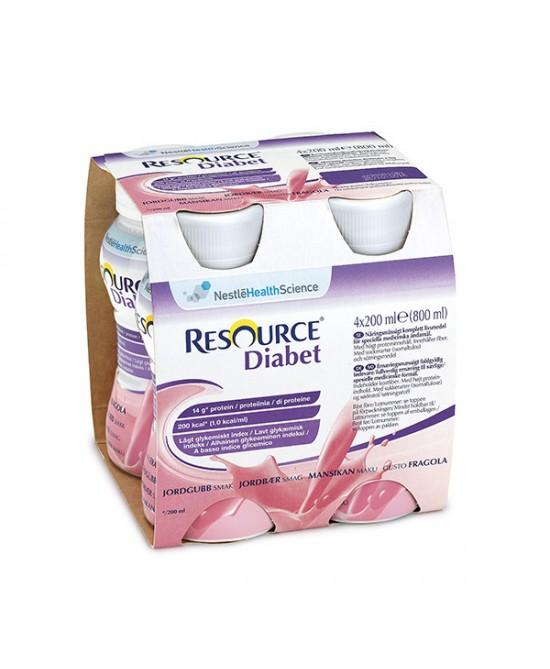 Resource Diabet Gusto Fragola 4 Confezioni 200ml - FARMAEMPORIO