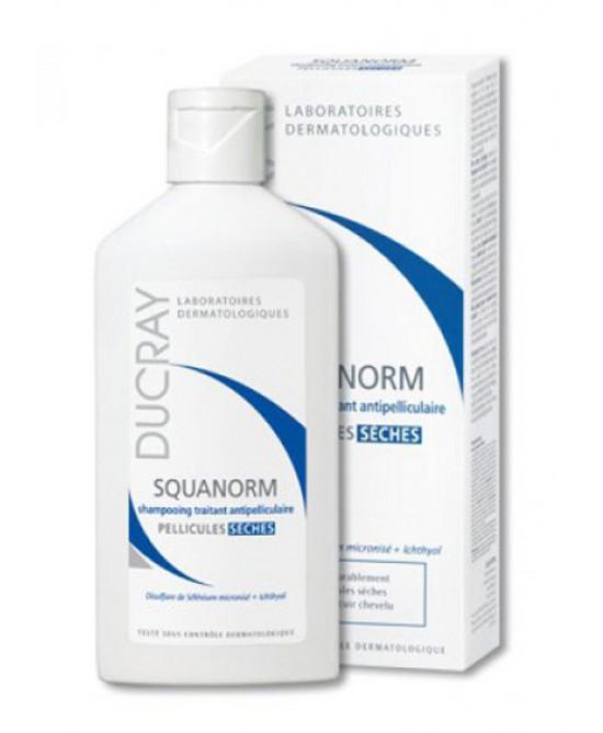 Ducray Squanorm Trattamento Forfora Secca Shampoo 200 ml - Farmastar.it