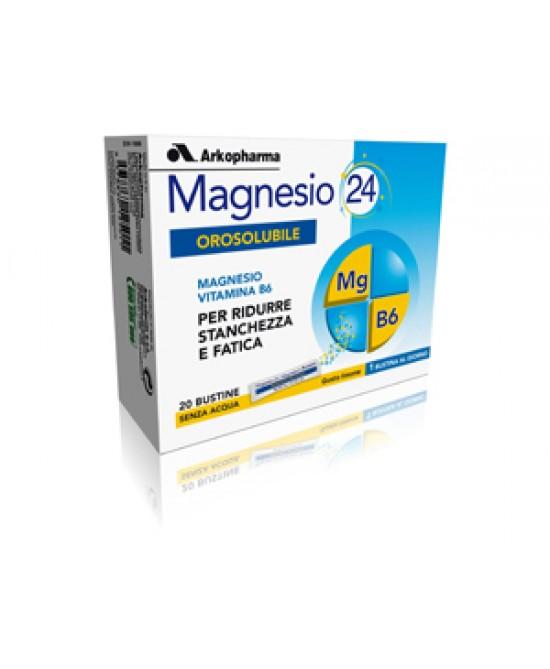 Arkopharma Magnesio 24 Orosolubile Integratore Alimentare 20 Bustine - La tua farmacia online