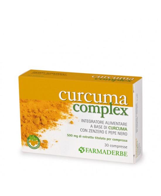 Farmaderbe Curcuma Complex Integratore Alimentare 30 Compresse - Zfarmacia