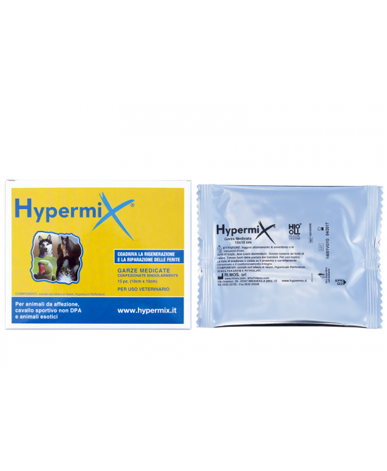 Hypermix Garze Medicate 10x10cm Uso Veterinario 15Pezzi - FARMAEMPORIO