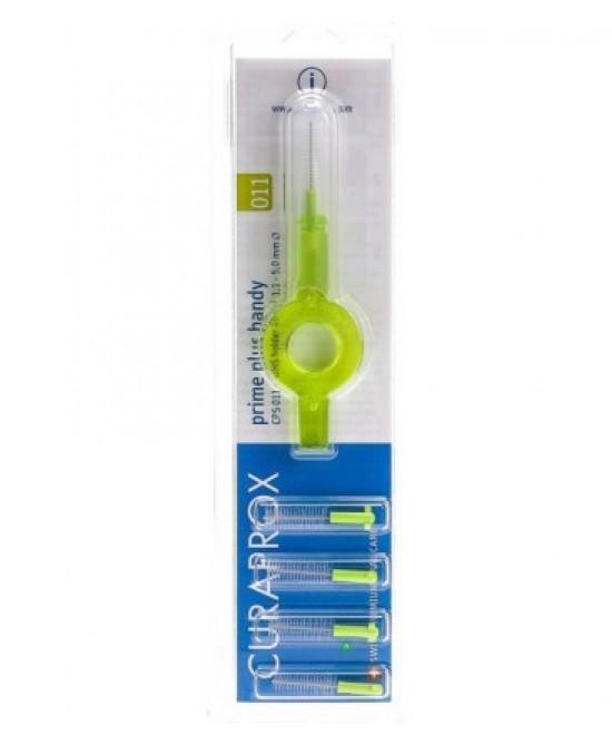 Curaprox Prime Plus Handy Scovolini Interdentali Colore Verde 5Pezzi - Zfarmacia