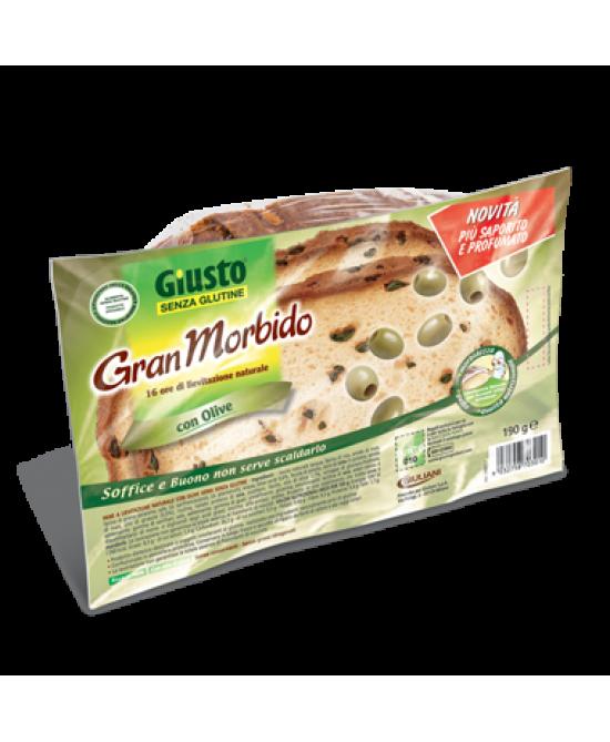 Giusto Gran Morbido Con Olive Verdi Senza Glutine 190g - FARMAPRIME