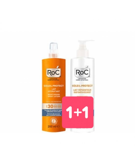 Roc Solari  Latte Idratante Spray SPF30 200ml + Omaggio Doposole 200ml - FARMAPRIME