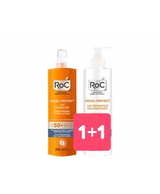 Roc Solari Latte Hydratante SPF 50 Spray 200ml + Omaggio Doposole 200ml - FARMAPRIME