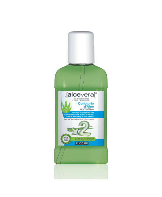 Zuccari Aloevera2 Collutorio D'Aloe Multi Attivo 250ml - Parafarmaciabenessere.it