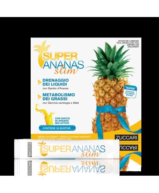 Zuccari Super Ananas Slim Drenante 25 Bustine  - La tua farmacia online