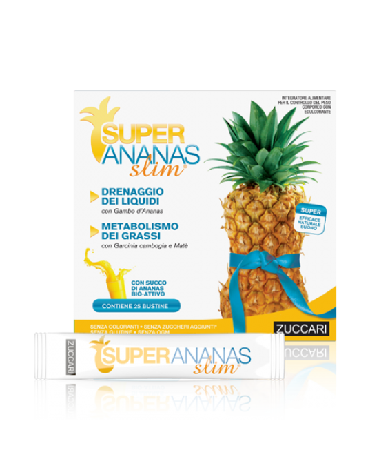 Zuccari Super Ananas Slim Integratore Alimentare 25 Stick Pack Da 10 ml - Farmastar.it