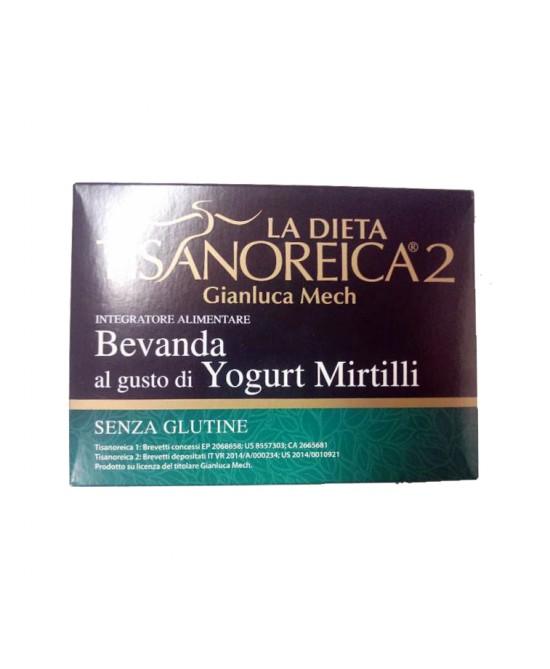 Tisanoreica2 Bevanda al gusto di Yogurt ai Mirtilli 4x28gr - La tua farmacia online