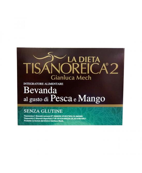 Tisanoreica2 Bevanda gusto Pesca e Mango 4 preparati da 28 gr - La tua farmacia online