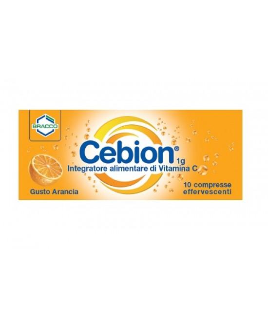 Bracco Cebion 1g Integratore Alimentare Di Vitamina C Arancia Senza Zucchero 10 Compresse Effervescenti - Farmabravo.it
