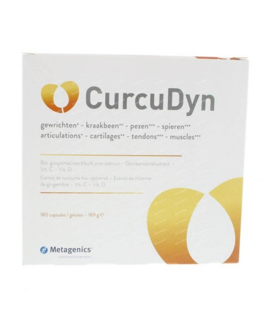 Metagenics CurcuDyn Integratore Alimentare 180 Compresse - Zfarmacia