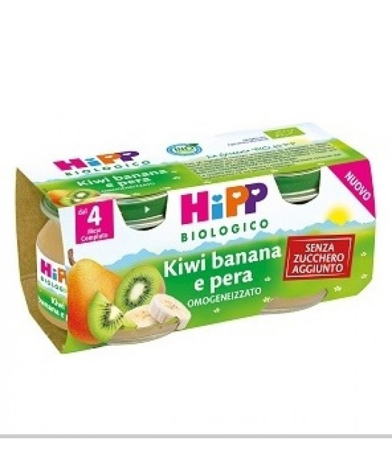 HiPP Biologico Omogeneizzato Kiwi Banana E Pera 2x80g - Zfarmacia
