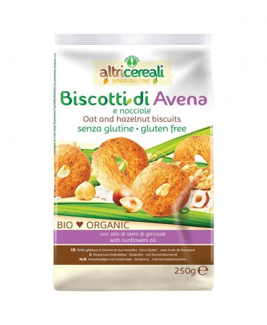 AltriCereali Biscotti Di Avena E Nocciole Senza Glutine 250g - FARMAPRIME