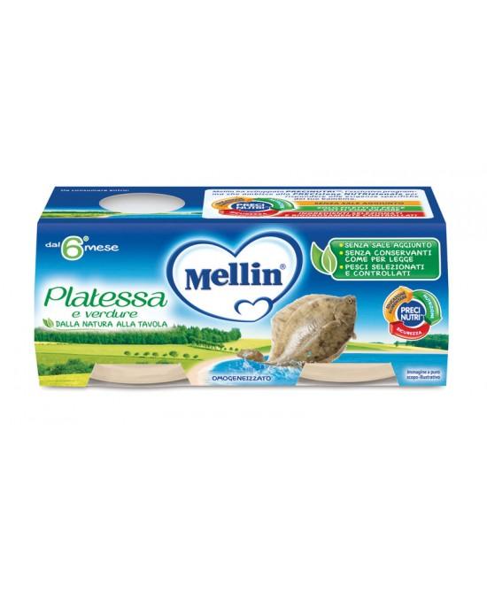 Mellin Omogeneizzati di Pesce Platessa 2 x 80 g - Farmalilla