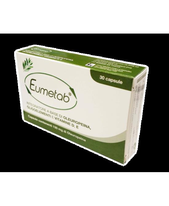 Eumetab Integratore Alimentare 30 Capsule - Farmamille