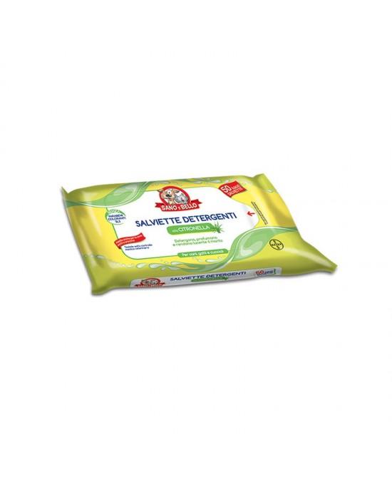 Sano E Bello Salviettine Detergenti Citronella Uso Veterinario 50 Salviette - Farmacento