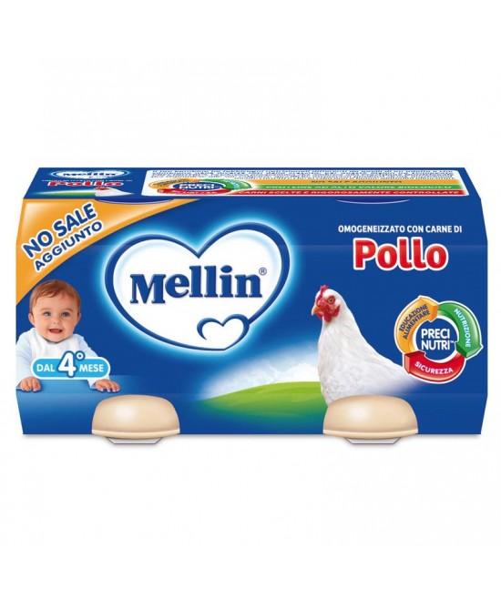 Mellin Omogeneizzati Carne Pollo 2 x 80 g - Farmalilla