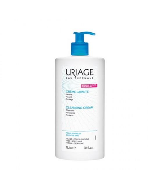 Uriage Crema Detergente Senza Sapone Per Viso Corpo e Capelli 1 litro - Farmamille