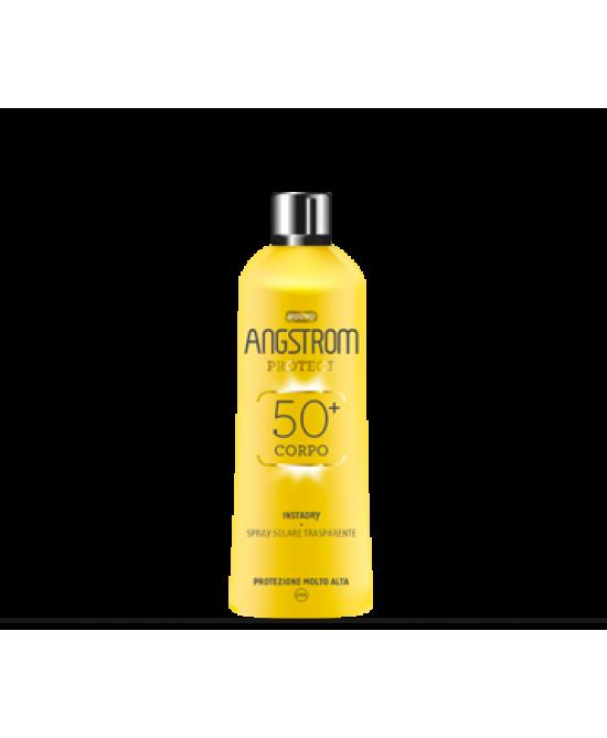 Angstrom Instadry Spray Solare Trasparente SPF 50+ Spray 150ml - Zfarmacia