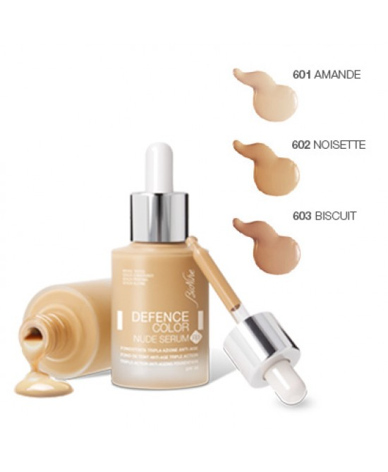BioNike Defence Color Fondotinta Fluido Antiage SPF 15 Colore 602 Noisette 30ml - Farmacia 33