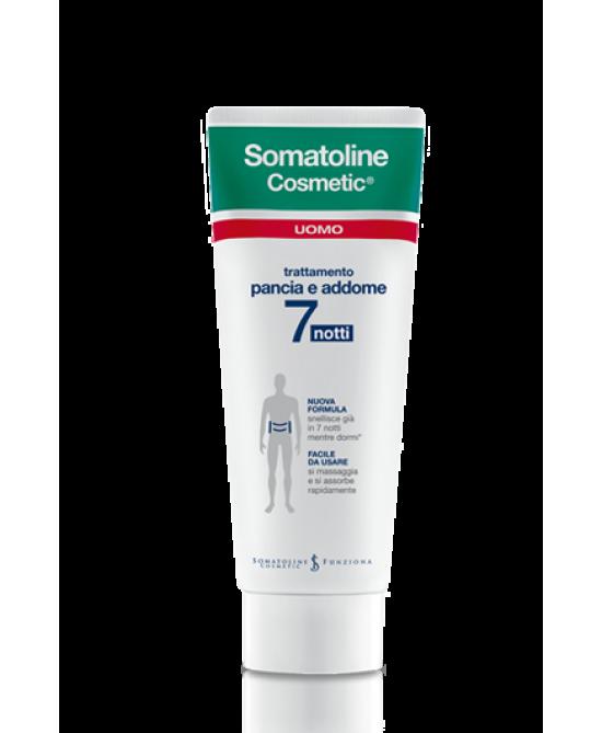 SOMATOLINE COSMETIC UOMO PANCIA ADDOME 7 NOTTI 250 ML - Farmawing