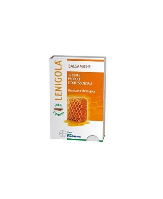 Bayer Lenigola Balsamiche Caramelle Gusto Liquirizia 20 Perle - Farmacento