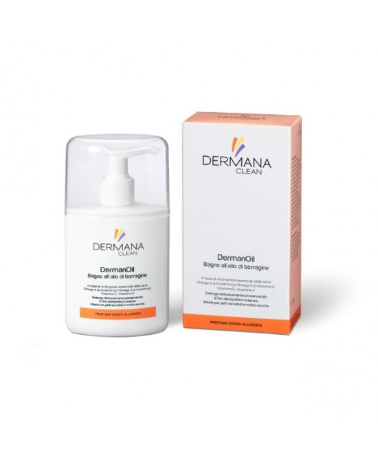 Dermana Clean DermanOil Bagno All'Olio Di Borragine 200ml - Farmacento