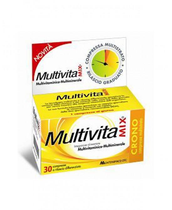 Montefarmaco OTC Multivitamix Crono Senza Zuccheri Integratore Alimentare 30 Compresse - Parafarmaciabenessere.it