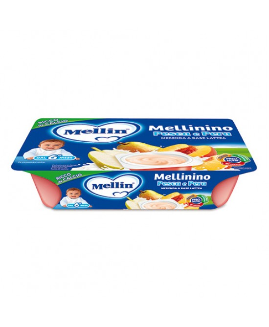 Mellin  Merenda Mellinino Pesca E Pera 6x60g - Farmacia 33
