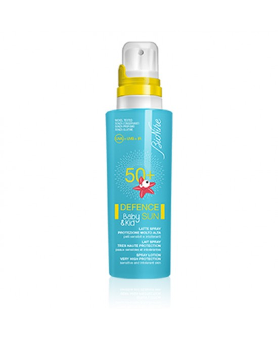 BIONIKE DEFENCE SUN SOLARI BABY&KID LATTE SPRAY SPF 50+ PROTEZIONE MOLTO ALTA 125 ML - Farmastar.it