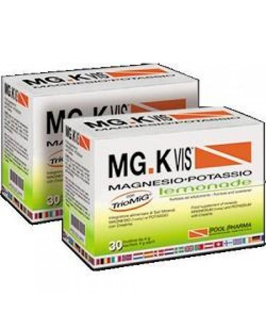 MGK Vis Lemonade Integratore Magnesio e Potassio 30 Bustine - La tua farmacia online