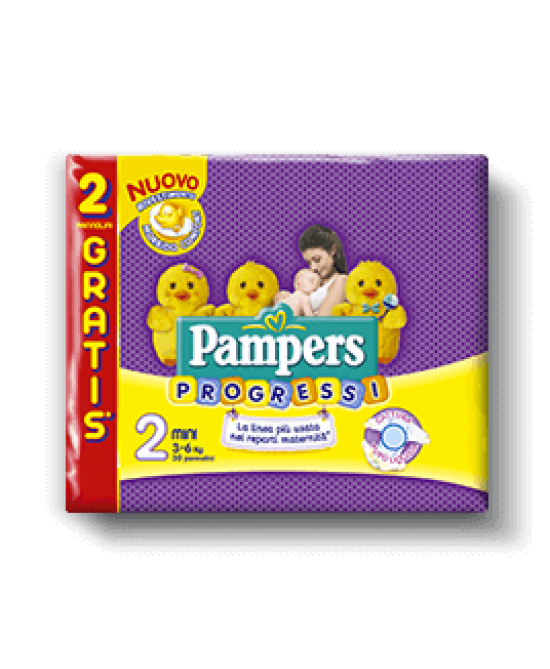 Pampers Progressi New Mini Misura 2 (3-6 Kg) 30 Pannolini - Farmamille