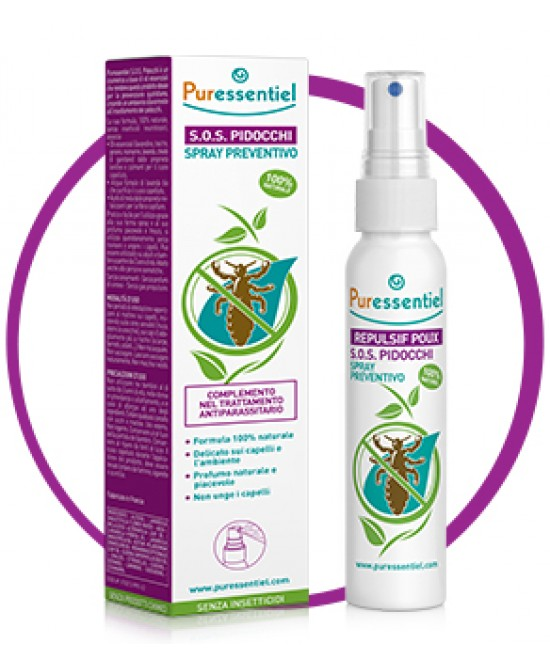 Puressentiel S.O.S. Pidocchi Spray Preventivo 75ml - FARMAEMPORIO