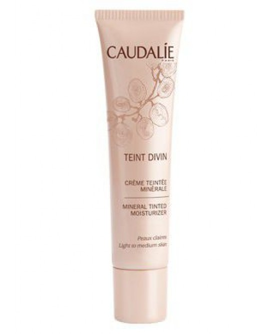 Caudalie Teint Divin Crema Colorata Minerale Pelli Chiare 30ml - Farmastar.it