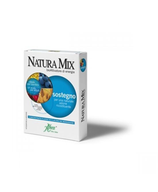 Aboca Natura Mix Sostegno Concentrato Fluido 10  Flaconcini In Vetro Da 15g - Zfarmacia