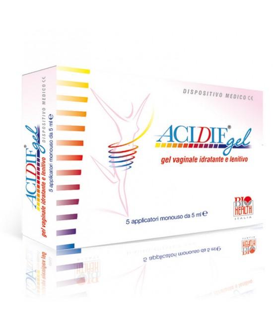 Acidif Gel Vaginale Idratante E Lenitivo 5 Applicatori Da 5ml - Farmamille