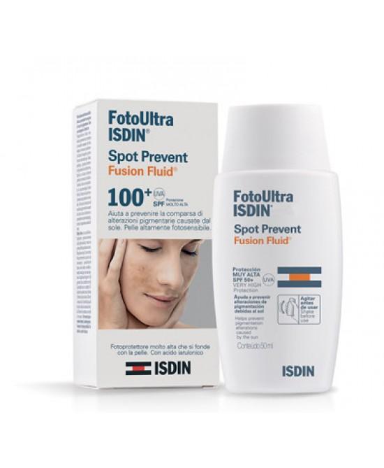 Isdin FotoUltra Spot Prevent Fusion Fluid Spf 100+ 50ml - Antica Farmacia Del Lago