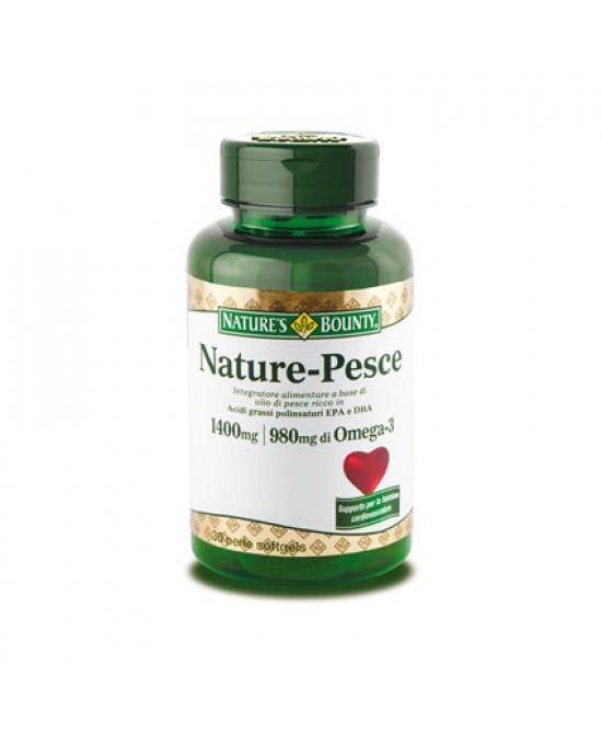 Nature's Bounty Nature-Pesce Integratore Alimentare 30 Perle Softgels - Farmacento