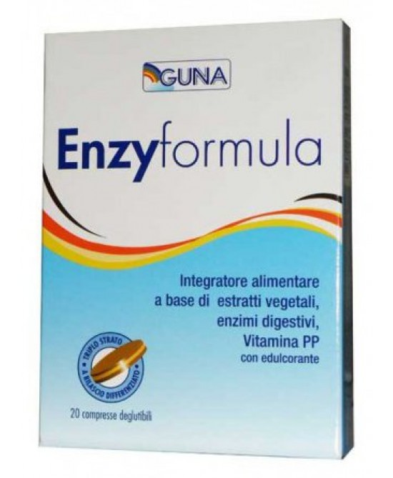 Guna Enzyformula Integratore Alimentare 20 Compresse - Zfarmacia