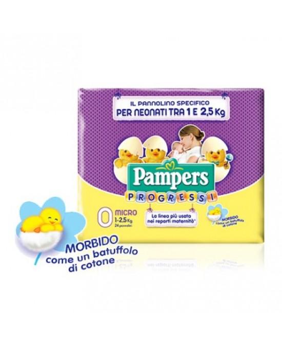 Pampers Progressi Taglia 0 Micro (1-2,5kg) 24 Pezzi - Farmacia 33