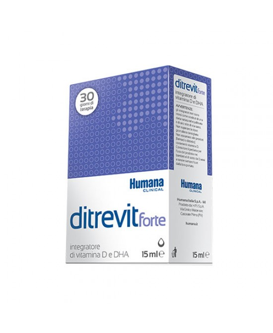 Humana Ditrevit Forte Integratore Alimentare Di Vitamina D E DHA 15ml - Farmamille